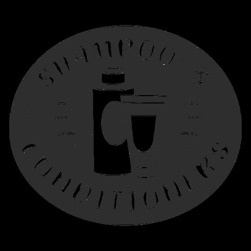 Bathroom shampoo and conditioner label black