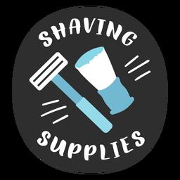 Bathroom shaving supplies label flat