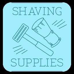 Bathroom shaving supplies label line