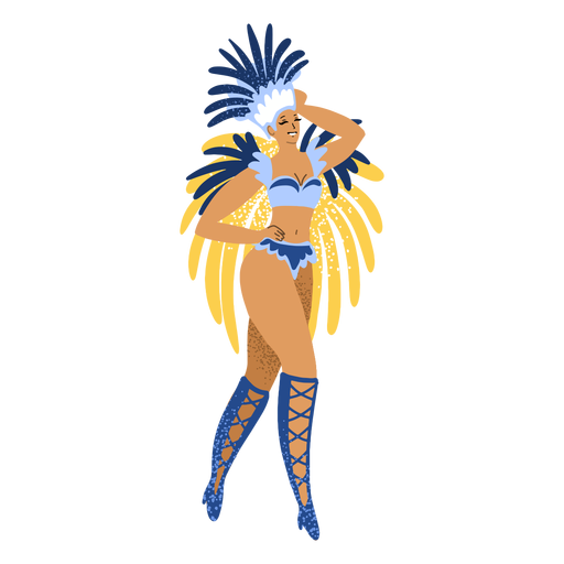 Carnival woman blue costume character Transparent PNG