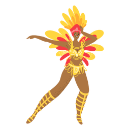 Carnaval mujer bailando personaje
