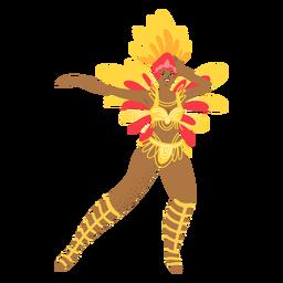 Carnival woman dancing character
