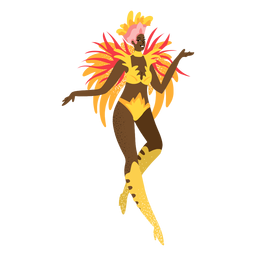 Carnival woman gold custome character