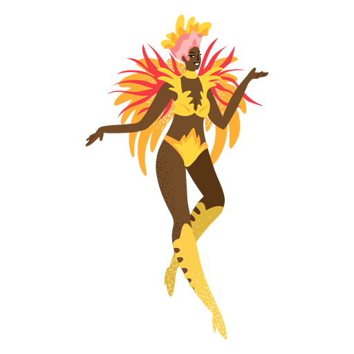 Carnaval mujer oro custome personaje Transparent PNG