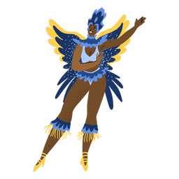 Carnival woman with butterfly wings character