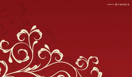 Fondo floral de rizos swirly