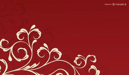 Fundo Floral De Cachos Swirly