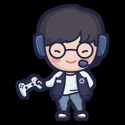 Cute south korean gamer character