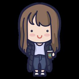 Cute south korean girl character