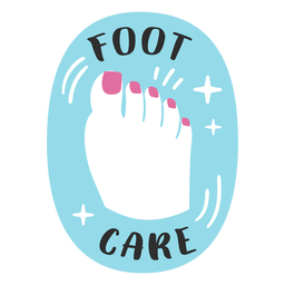 Foot care bathroom label flat
