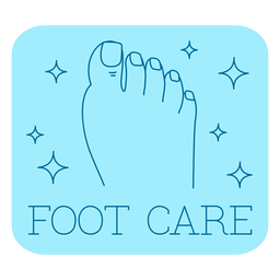 Foot care bathroom label line