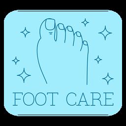 Linha de etiqueta de banheiro de cuidados com os pés