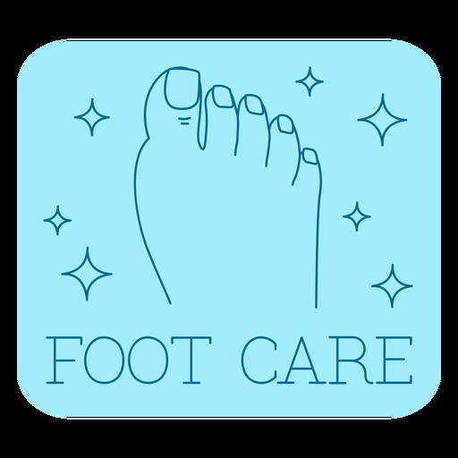Foot care bathroom label line