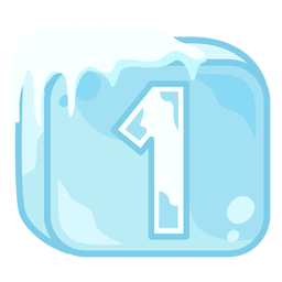 Número do cubo de gelo 1