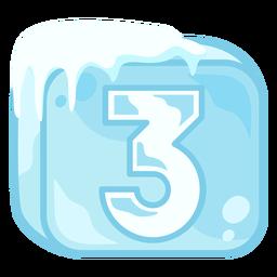 Cubito de hielo número 3