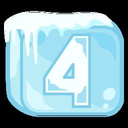 Cubito de hielo número 4
