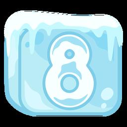 Cubito de hielo número 8