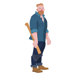 Lumberjack man character