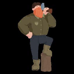 Lumberjack with beard character