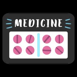 Etiqueta de baño medicina plana