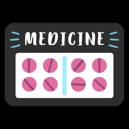 Etiqueta de baño de medicina plana