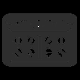 Etiqueta de baño medicina negro