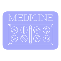 Medicine bathroom label line