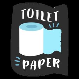 Toilet paper bathroom label flat