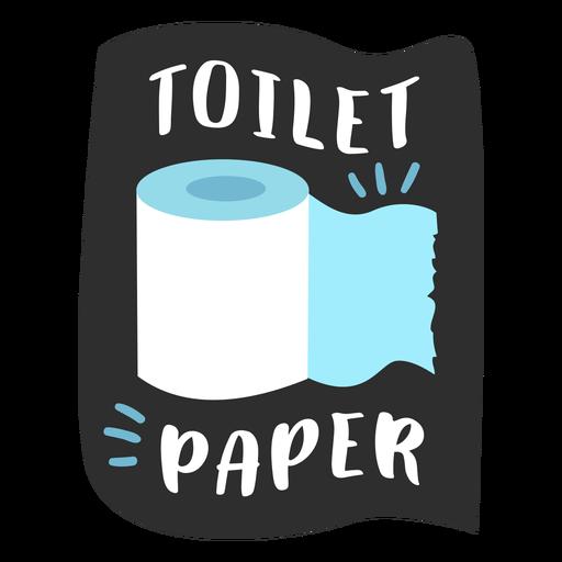 Etiqueta de baño de papel higiénico plana