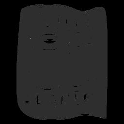 Papel higiénico baño etiqueta negro