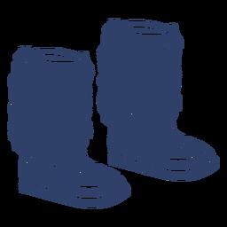 Arctic boots blue