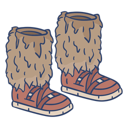 Arctic boots illustration