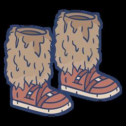 Ilustración de botas árticas