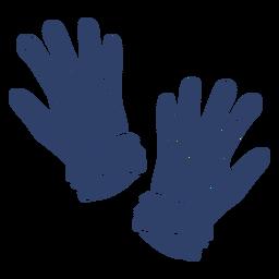 Arktische Handschuhe blau