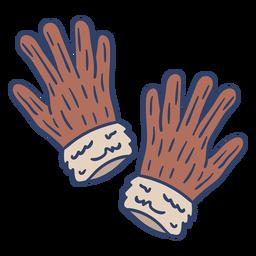 Ilustración de guantes árticos