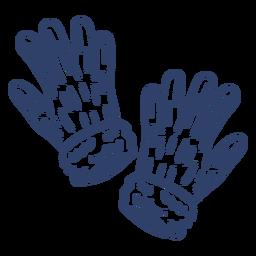 Arktische Handschuhe streicheln