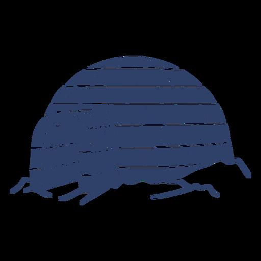 Iglú ártico azul