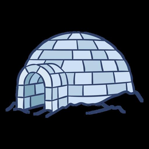 Ilustración de iglú ártico