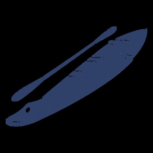 Kayak ártico azul