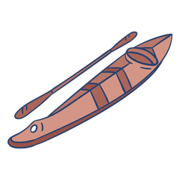Arctic kayak illustration