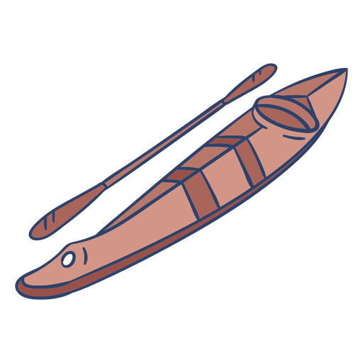 Ilustración de kayak ártico