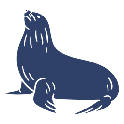 Arctic seal blue