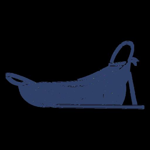 Trineo ártico azul