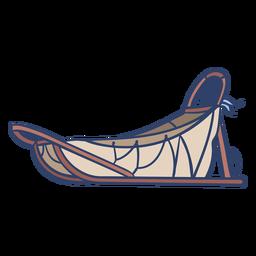 Ilustración de trineo ártico