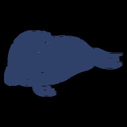 Arctic walrus blue