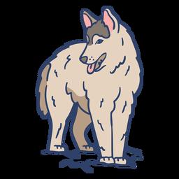 Ilustração do lobo ártico