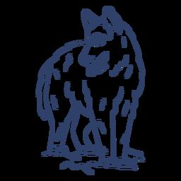 Arctic wolf stroke