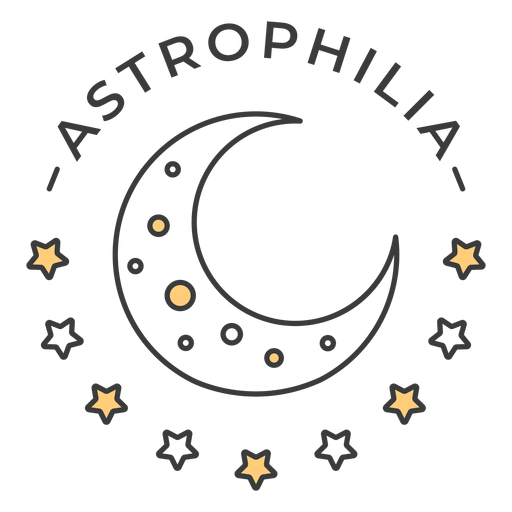 Insignia de astrofilia Transparent PNG