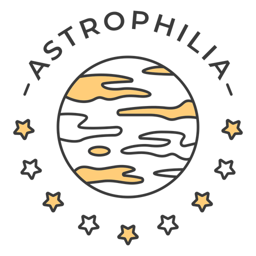 Trazo de insignia de astrofilia júpiter