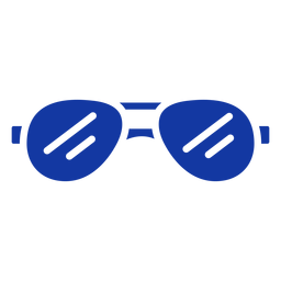Gafas de sol aviador azul